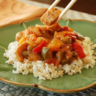 Peachy Sweet and Sour Chicken