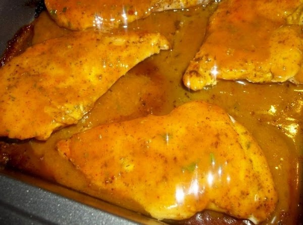 Pour half of this mixture over the chicken.  Bake for 15 - 20 minutes. Turn...