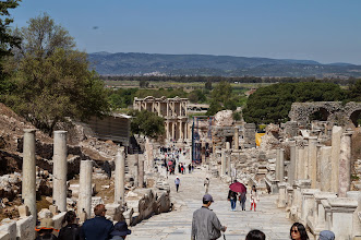 Photo: main street of Ephesus, a road walked by Cleopatra et al