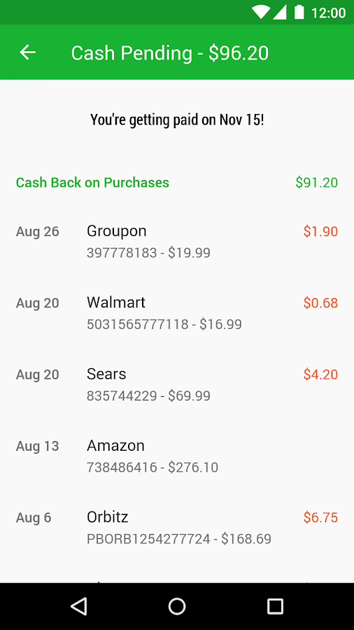 Ebates Cash Back & Coupons- screenshot