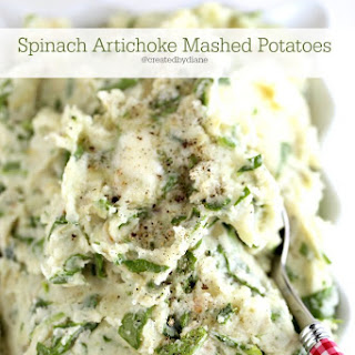 Spinach Artichoke Mashed Potatoes