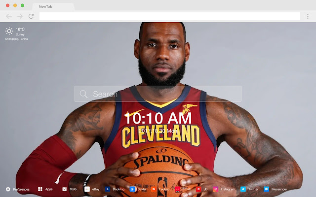 Cleveland Cavaliers Pop HD New Tabs Theme