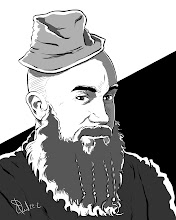 Photo: Not Quite 366 Avatars Project 2012 Drawing dude's with beards is my bread and butter, folks. This one has a funny hat. I like funny hats.  http://CDowd.com/avatars