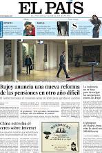 Photo: Rajoy anuncia una nueva reforma de las pensiones en otro año difícil, China estrecha el cerco sobre Internet y el promotor del Madrid Arena evita la cárcel con 200.000 euros, en nuestra portada del sábado 29 de diciembre http://srv00.epimg.net/pdf/elpais/1aPagina/2012/12/ep-20121229.pdf
