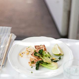 Marinated Tofu and Bok Choy Stir-Fry.