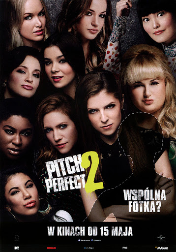 Przód ulotki filmu 'Pitch Perfect 2'