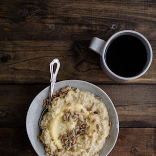 Millet Porridge with Lemon Curd and Sunflower Seeds