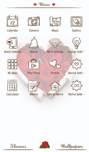 Wallpaper Rose Heart Theme 1.0.2 Windows u7528 2