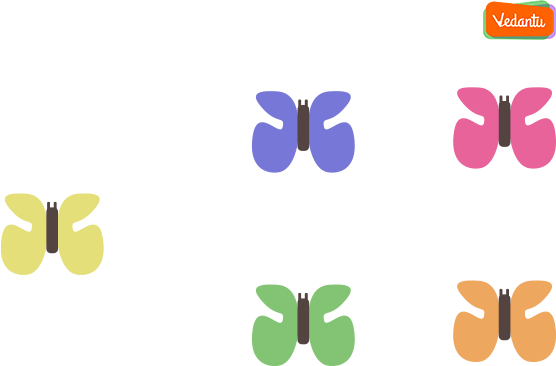 this is one butterfly and these are 4 butterflies