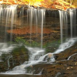 LOWER LAKE ANN FALLS by Dana Johnson - Landscapes Waterscapes ( waterscape, cascade, falls, landscape, spring,  )