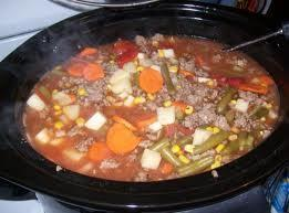 Place all ingredients in large pot and simmer about 2 hours or til vegetables...