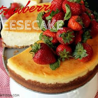 Strawberry Cheesecake with Vanilla Whipped Cream.