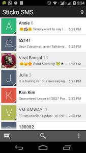 Sticko SMS - Theme Messaging screenshot 0