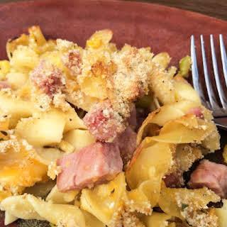 Easy Ham Noodle Casserole.