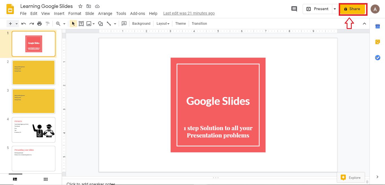 Share presentation