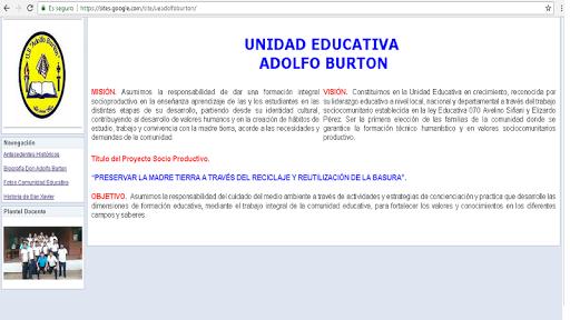 U.E. Adolfo Burton.  screenshots 2