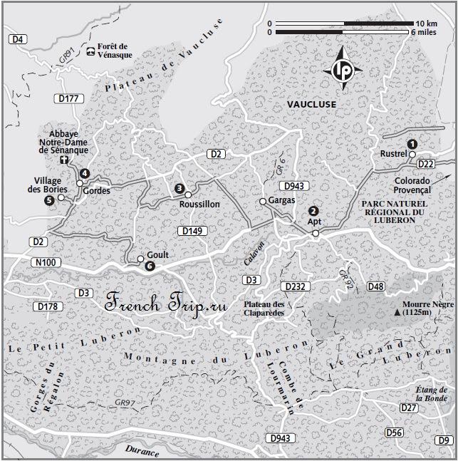 Luberon (Люберон), Прованс, Франция - достопримечательности, маршруты