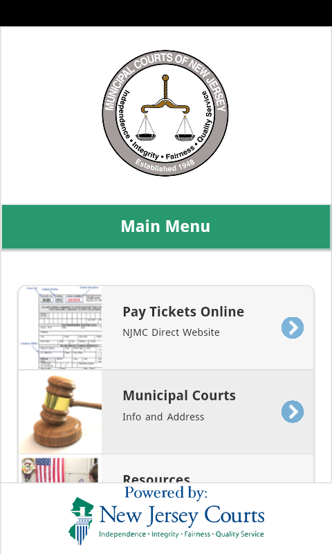 New Jersey Municipal Courts- screenshot