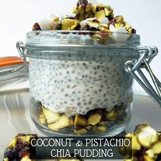 Coconut & Pistachio Chia Pudding Breakfast.