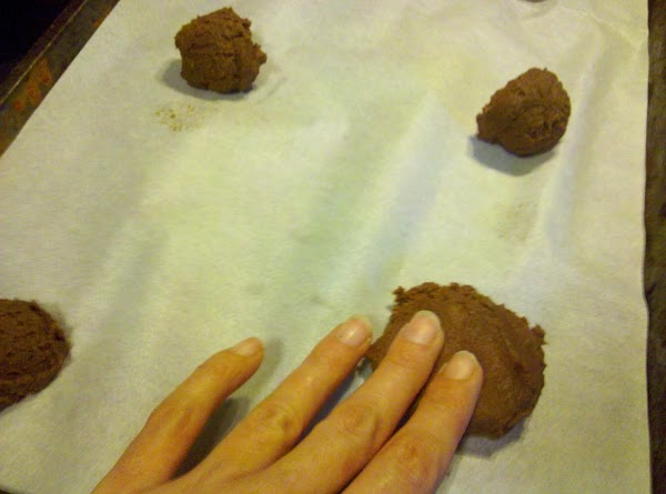 Using a small cookie scoop or spoon, scoop out 1 tablespoon of the chocolate...