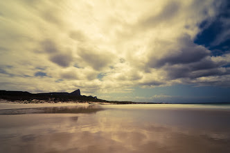 Photo: Good Hope  This shot is yet another from the Cape of Good Hope National Park in Cape Town. The Beaches aren't amazing for swimming but the views are stunning in every direction with mountains just shooting up thousands of feet above you and water all around. We were fortunate to get down to the beach just about 30min before a small storm arrived so the clouds were amazing!  What was not captured in this frame was a Baboon galloping down the beach steal a family's cooler just after I shot this. It's not every day that you see a Baboon galloping down a beach toward you just a like a dog!  Processing: Nikon D7000   Tokina 11-16mm   10stop ND Filter   Lightroom