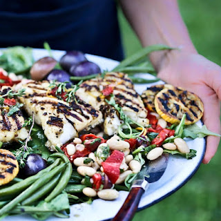 Nicoise Salad with Grilled Fish.