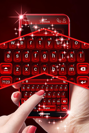 Red Keyboard For Android 1.288.18.28 screenshots 3