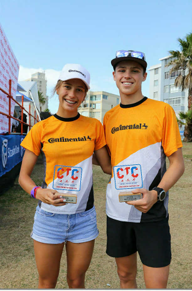 Amber Schlebusch and Jamie Riddle the individual winners of The Isuzu Corporate Triathlon Challenge