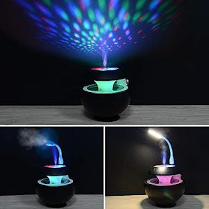 Lampa cu proiectie, umidificator si aromatizor