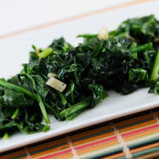 Garlic and Nutmeg Spinach.