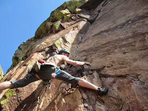 Photo: Hans Florine on the Naked Edge. He's climbed El Cap more than anyone alive - 150+ times.