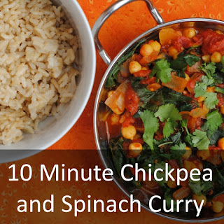 10 Minute Chickpea and Spinach Curry.