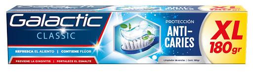 crema dental galactic limpiador de encias 180gm