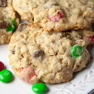 M&M Chocolate Chip Oatmeal Cookies