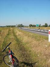 Photo: A kierowca-rowerzysta dopiero wraca na start