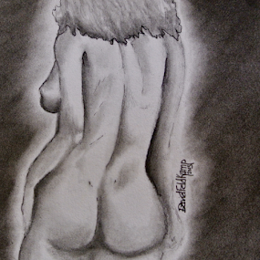 Nude in Graphite by Dave Feldkamp - Drawing All Drawing ( charcoal, graphite, nude, artiistic, shadow, naked, art, black & white, shadows, drawing,  )