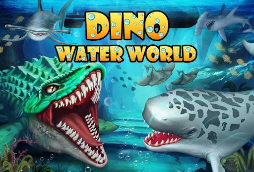 Jurassic Dino Water World-Monde de l'eau Dino fond d'écran 1