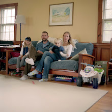 Photo: title: Sam, Kristen, Ruby and Gus Pfeifle, Gray, Maine date: 2011 relationship: friends, met through art world Portland years known: 10-15