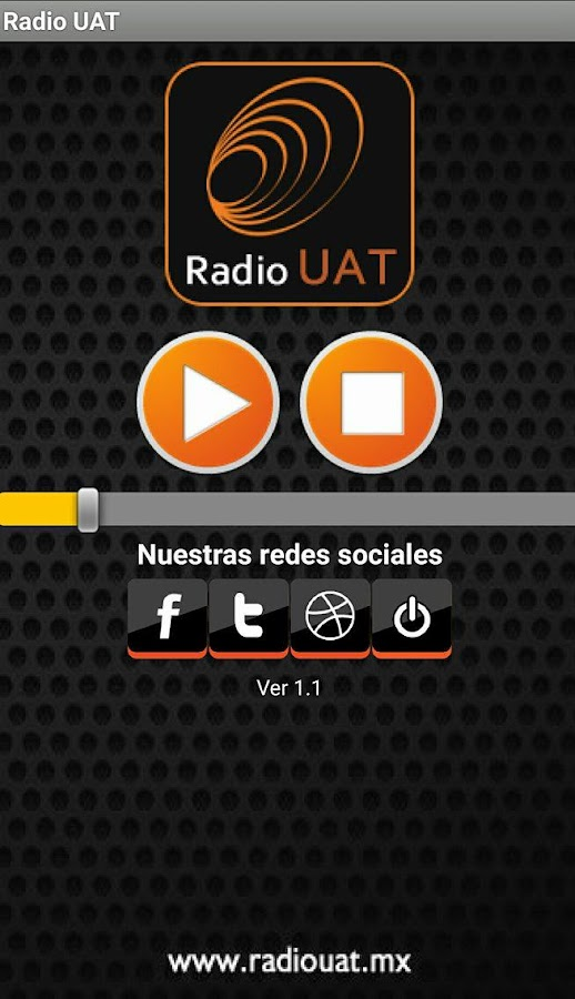 Radio UAT: captura de pantalla