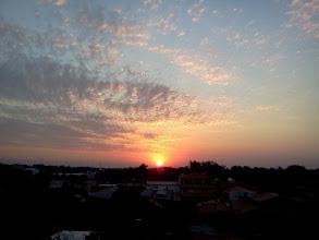 Photo: 新居アパートからの日没