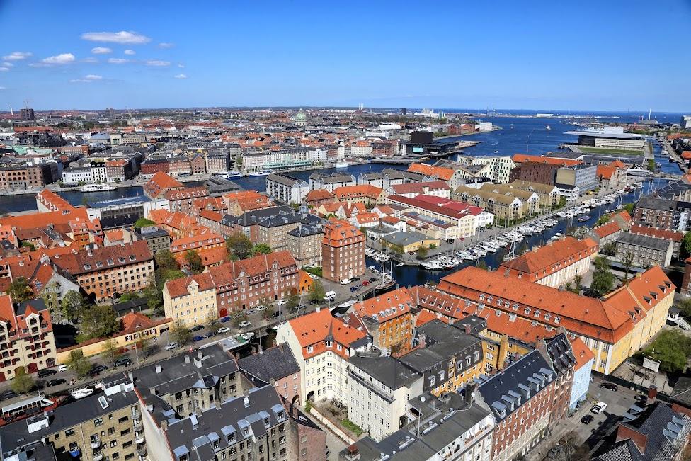 Kopenhaga, widok z wieży Kościoła Najświętszego Zbawiciela, Von Frelsers Kirke