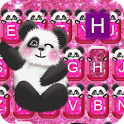 Hot Pink Panda keyboard Theme icon