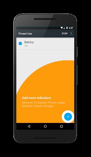 PowerLine: On screen battery, signal, data lines  screenshots 7