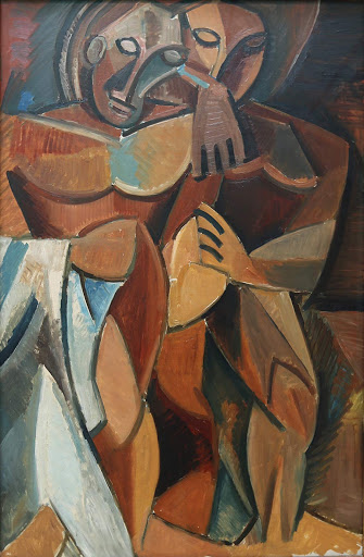 "picasso-friendship.jpg -  Pablo Picasso, ""Friendship,"" 1908, oil on canvas, at the Hermitage at St. Petersburg, Russia."