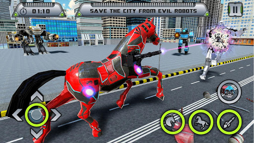 Auto Robot Trasformazione Gioco - Cavallo Robot  άμαξα προς μίσθωση screenshots 1