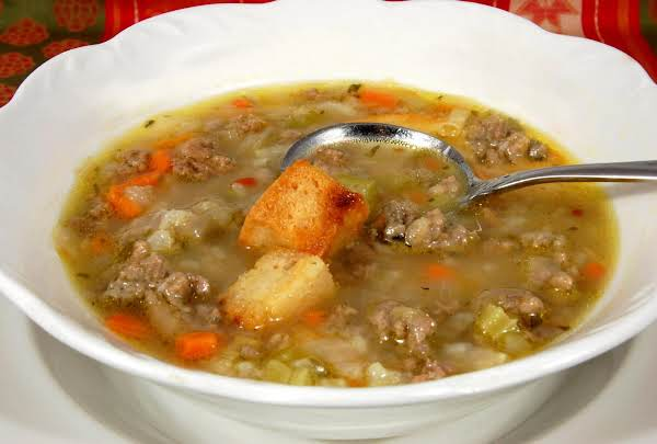 Martha's Hamburger Soup Recipe