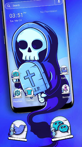 Skull RIP Theme Launcher Theme screenshots 1