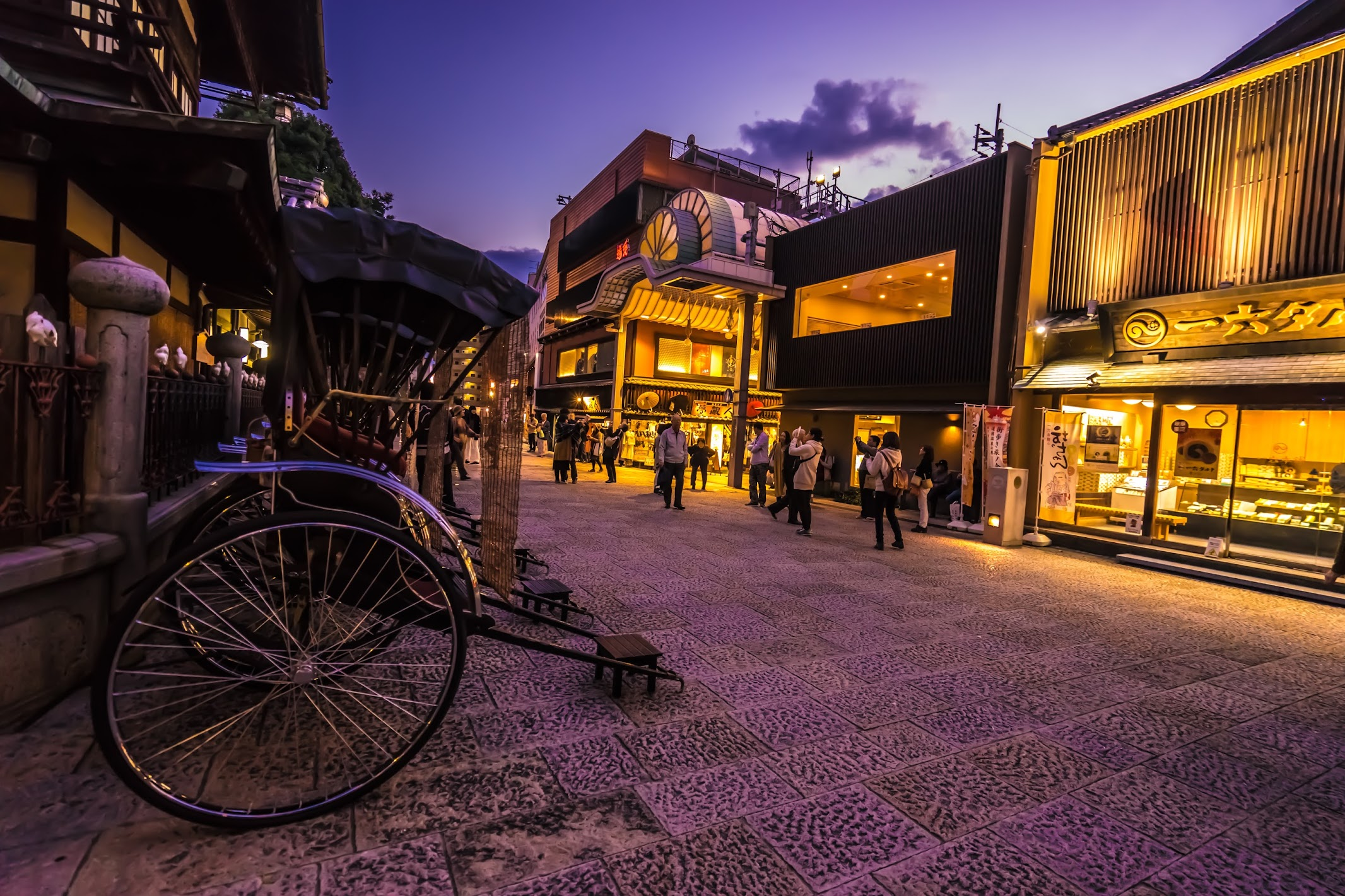 Dogo Onsen Honkan Evening view3