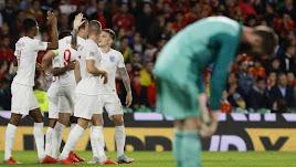 Inglaterra fue superior a España.