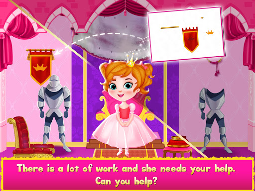 Princess Doll House Cleanup & Decoration Games screenshots 5